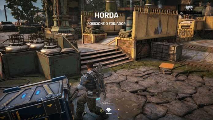 Mova o Forjador para começar a partida em Gears of War 4 (Foto: Reprodução/Murilo Molina)