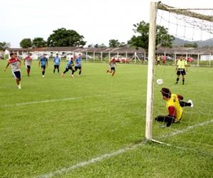 Schwenck marcou o gol de pênalti do Marcílio Dias, no último sábado (Foto: Divulgação / Marcílio Dias)