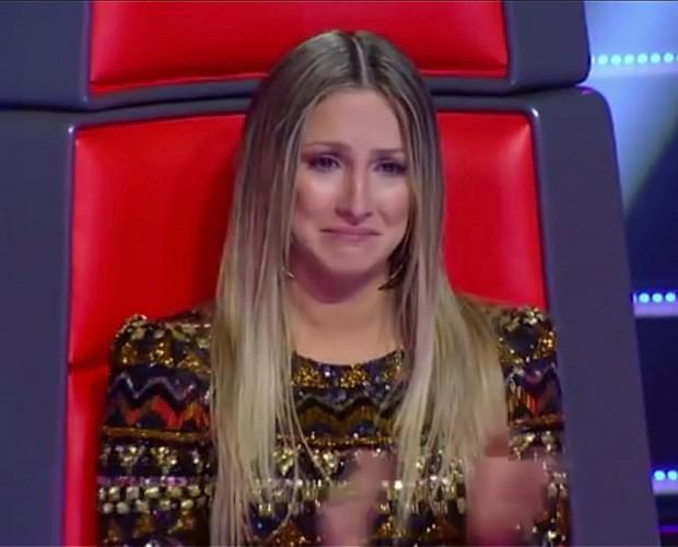 Claudia Leitte chorando (Foto: The Voice Brasil / TV Globo)