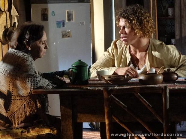 Candinho quer saber a verdade sobre seu pai (Foto: Flor do Caribe/ TV Globo)