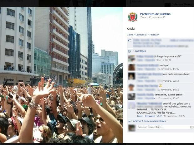Cobertura da corrente cultural gerou engajamento dos seguidores (Foto: Reprodução/ Facebook)