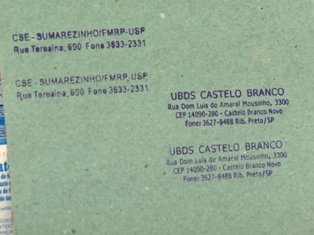 Carimbos falsificados também eram utilizados pelo suspeito (Foto: Paulo Souza/EPTV)