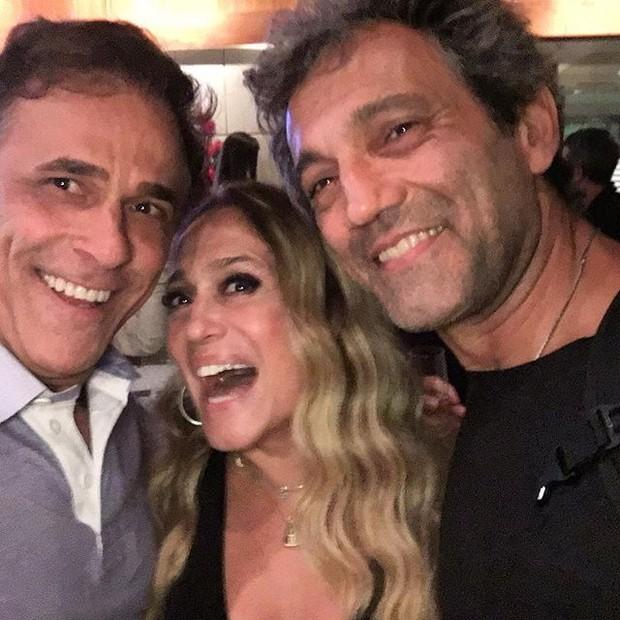 Oscar Magrini, Susana Vieira e Domingos Montagner em festa no Rio (Foto: Instagram/ Reprodução)