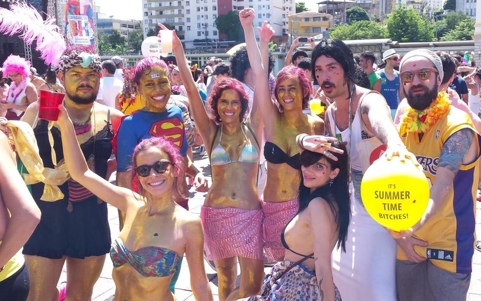 Bloco 'Então Brilha' abre o sábado de carnaval em Belo Horizonte  (Foto: Pedro Ângelo/G1)