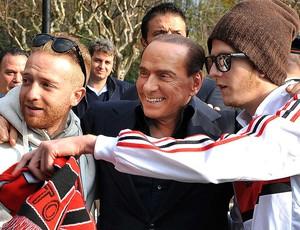 Silvio Berlusconi visita no Milan Itália (Foto: EFE)