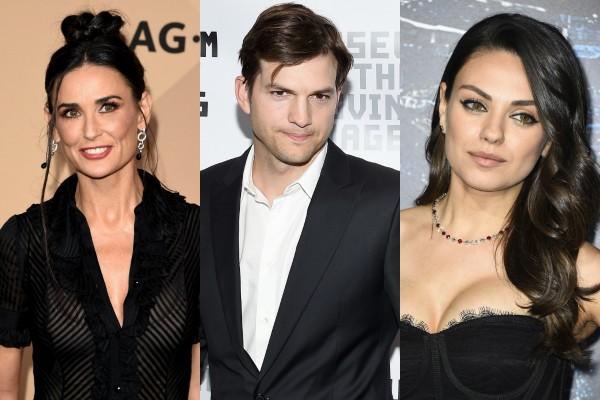 Demi Moore, Ashton Kutcher e Mila Kunis (Foto: Getty Images)