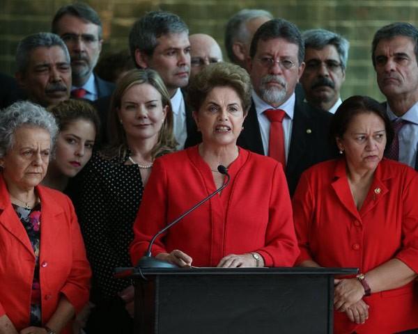 Dilma Rousseff em pronunciamento após o impeachment (Foto: Agência Brasil)