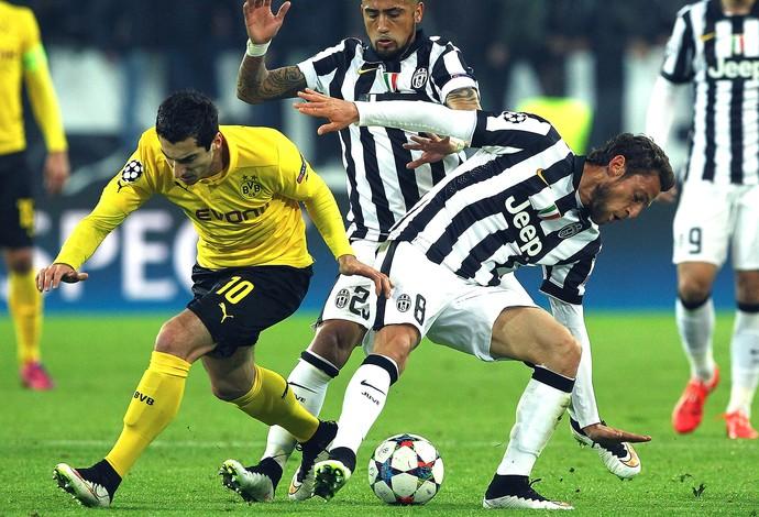 Mkhitaryan e Marchisio Juventus X Borussia Dortmund (Foto: Getty Images)