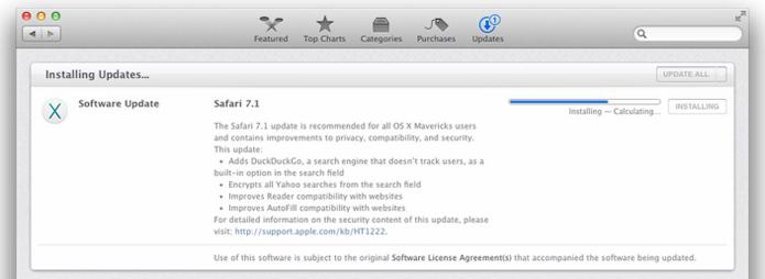 Nova versão do Safari trás DuckDuckGo como sistema de busca padrão (foto: Reprodução/Apple)