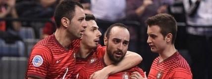 Ricardinho faz outro golaço, mas Portugal perde para a Espanha no futsal (Divulgação/Sportsfile)