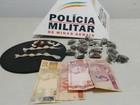 PM prende suspeitos de tráfico com ajuda de cão farejador em Divinópolis