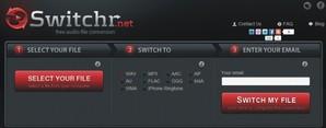 Switchr, conversor de áudio online