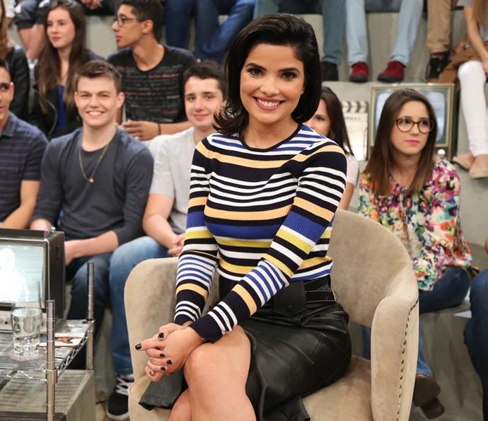 Vanessa Giácomo participa do programa Altas Horas (Foto: Carol Caminha/Gshow)