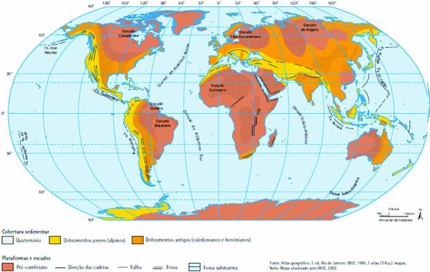 Estrutura geológica e mineração no Brasil (Foto: Reprodução)