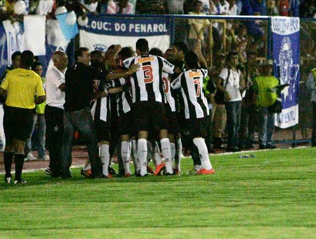 Comemoração - Penarol x Atlético Mineiro (Foto: Arlesson Sicsu / FUTURA PRESS / AE)