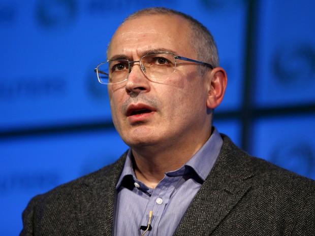 Mikhail Khodorkovsky durante evento da Reuters em Londres, em 26 de novembro (Foto: Reuters/Peter Nicholls)