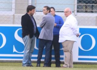 Alberto Guerra Antônio Dutra Jr Romildo Bolzan Alexandre Rolim Grêmio (Foto: Eduardo Moura/GloboEsporte.com)