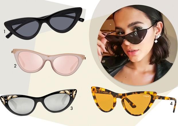 ffed39e21d9ff Shops  4 óculos inspirados no gatinho de Bruna Marquezine - Vogue   Guia de  estilo