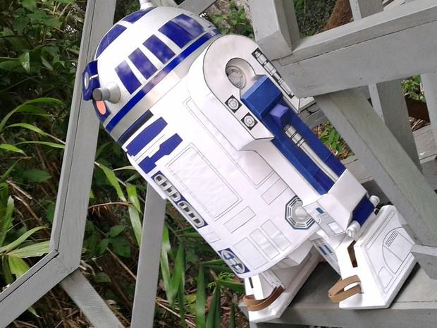 Professor cria réplica do R2-D2, de 'Guerra nas Estrelas', no AM (Foto: Divulgação)