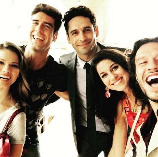 Haja Coração: Karen Junqueira, Marcos Pitombo, João Baldasserini, Chandelly Braz e Nando Rodrigues (Foto: Reprodução/Instagram)