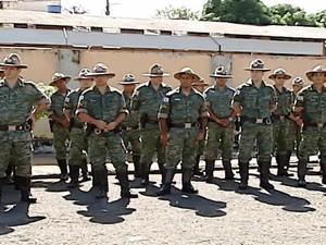 Troca de comando Companhia Independente de Meio Ambiente e Trânsito Rodoviário de Uberlândia (Foto: Reprodução/ TV Integração)