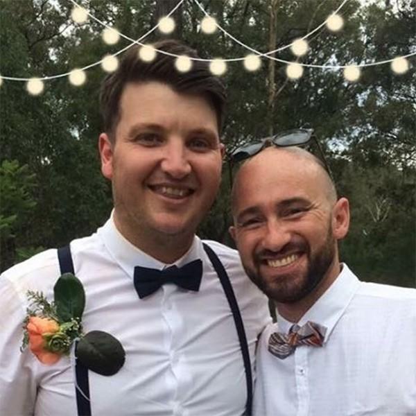 Matty e Jimmy Kerr em casamento na Austrália (Foto: Instagram)