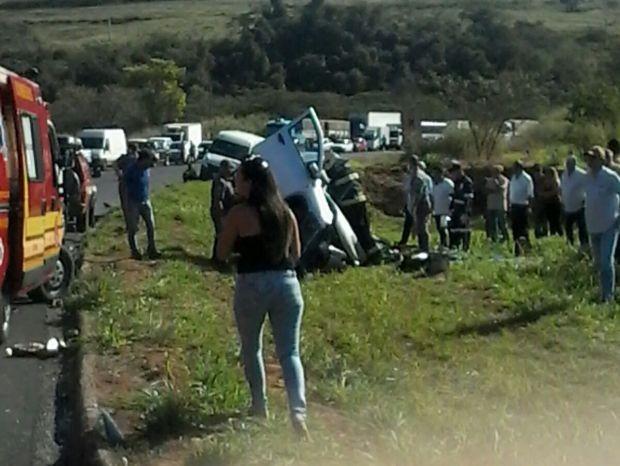 Acidente envolveu quatro veículos em Marília (Foto: Eduardo Meira / Divulgação)