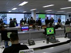 Segurança da Olimpíada é controlada no Centro Policial Internacional no DF