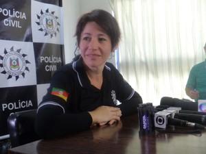Delegada investiga caso da morte do menino Bernardo no RS (Foto: Caetanno Freitas/G1)