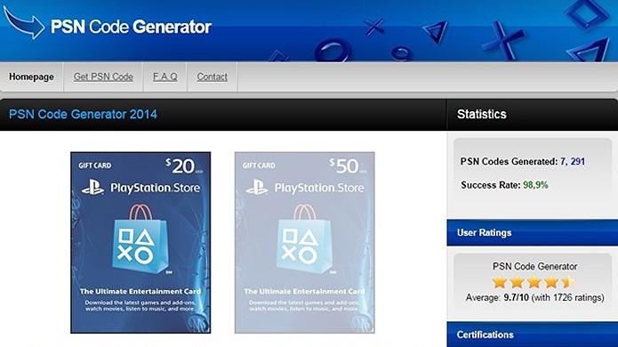Sites oferecem créditos da PSN e Steam mas são apenas golpes virtuais (Foto: Avast)