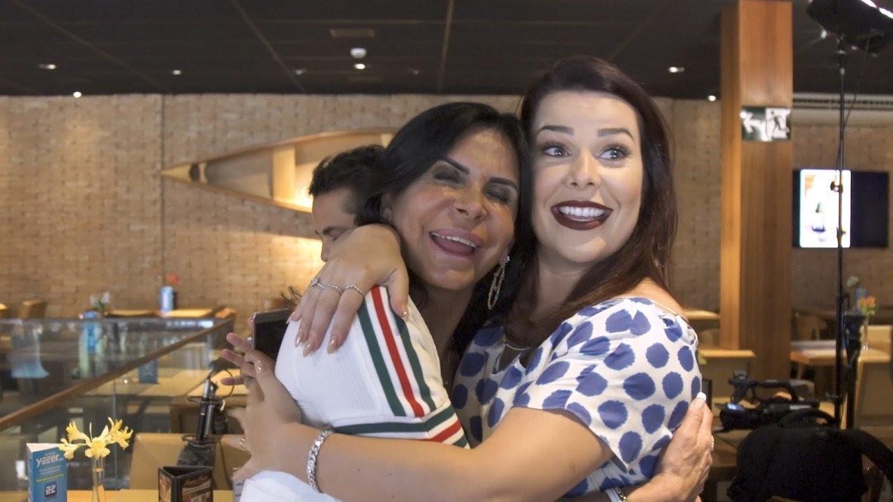 Gretchen e F Souza se chamam de me e filha (Foto: Divulgao/Multishow)