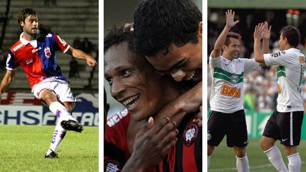 Globo Esporte Paraná (Foto: Robson E. V. Mafra/ Site Paraná / Site Oficial CAP / Site Oficial Coritiba)
