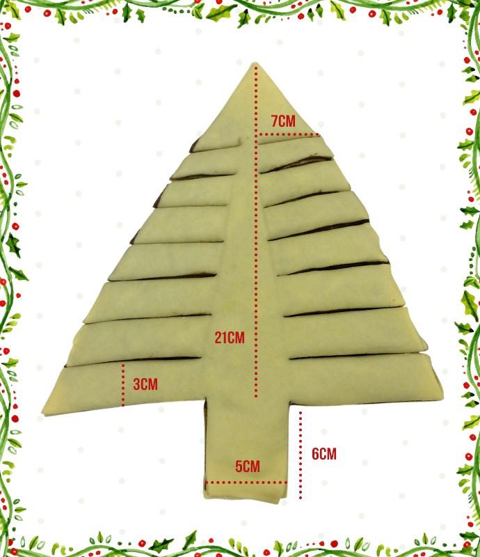 Molde para a árvore de Natal de Creme de Avelã (Foto: Gshow)