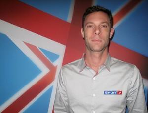 Ivan Schwantes, comentarista de esgrima do SporTV (Foto: Paola Loewe/SporTV.com)