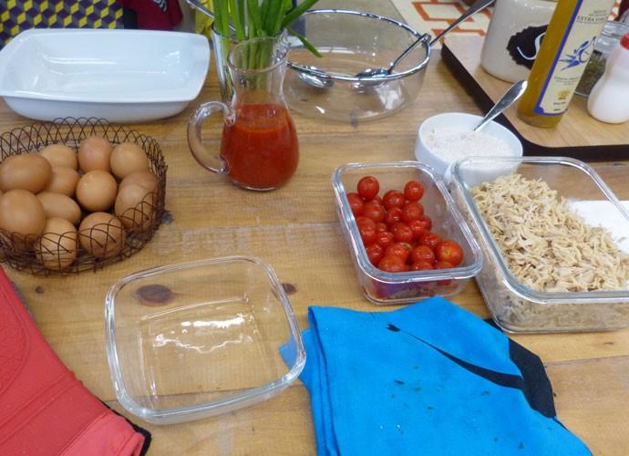 O segredo da torta de frango light é simples: ingredientes saudáveis  (Foto: Larissa Miguez/ Gshow)