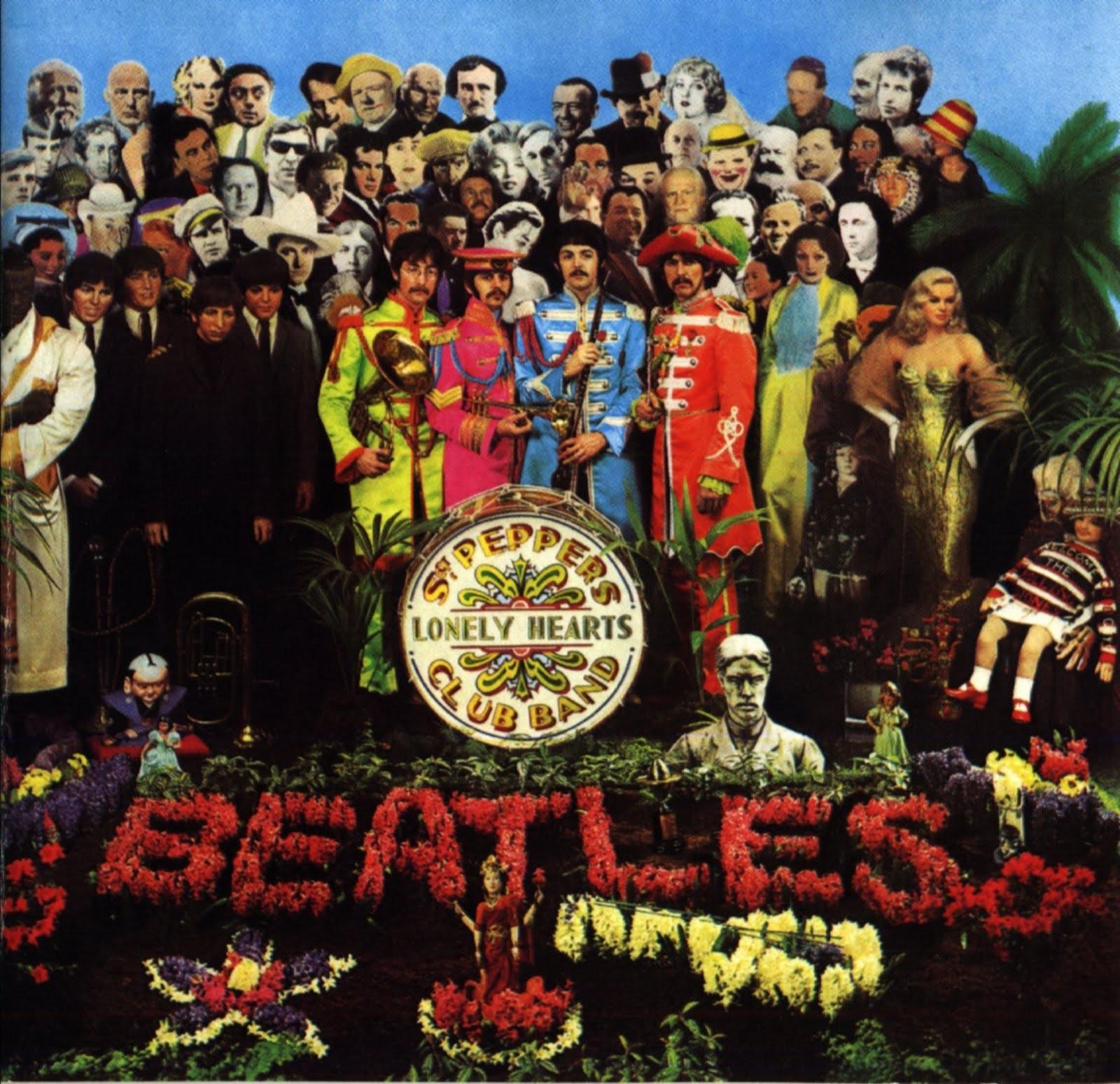 A icônica capa de Sgt. Peppers Lonely Hearts Club Band (Foto: Reprodução)