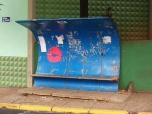 Alguns símbolos também já foram usados pelos artistas em alguns pontos da cidade (Foto: Fábio Nagate/ Arquivo Pessoal)