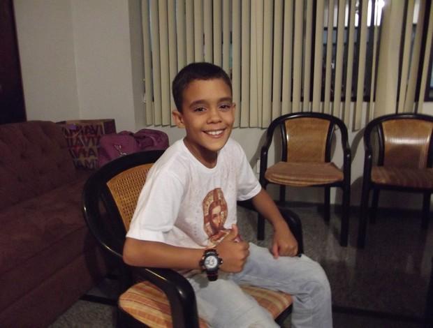 Potiguar Gabriel Victor, 9 anos, tem multa rescisória de R$ 2,5 milhões (Foto: Arthur Barbalho/GLOBOESPORTE.COM)