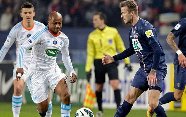 Beckham na partida do PSG contra o Olympique (Foto: Reuters)