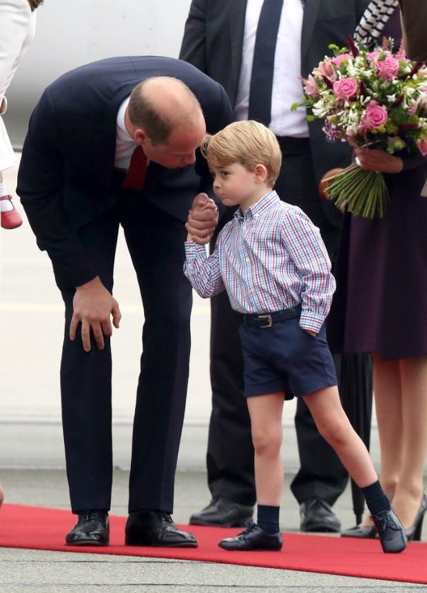 Príncipe William com o pequeno George, que completa 4 anos no próximo sábado (Foto: Getty)