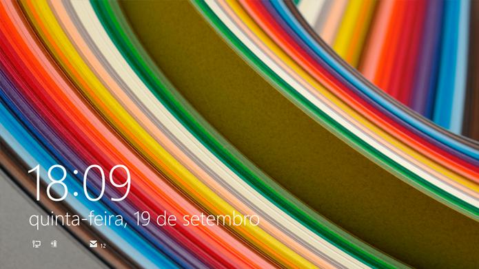 Tela de bloqueio do Windows 8 e Windows 8.1 (Foto: Reprodução/Microsoft)