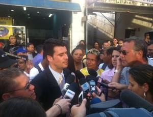 Assessor do TJ fala sobre depoimento de corintiano (Foto: Leandro Canônico)