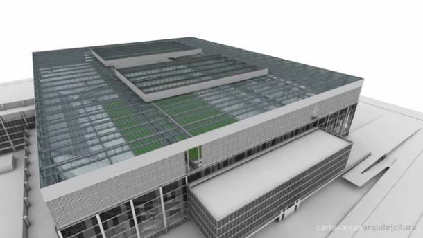 Teto retrátil da Arena da Baixada (Foto: Reprodução/Site oficial do Atlético-PR)