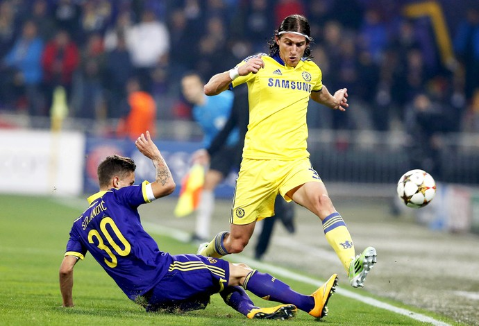 Chelsea x Maribor - Filipe Luís (Foto: Efeservicios)