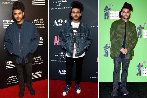 O estilo alinhado de The Weeknd (Foto: Getty Images)