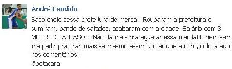 Declaração do Jogador Andresinho de Suzano (Foto: Reprodução)