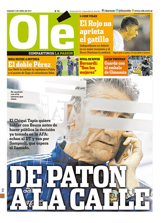 Olé crava que Bauza não irá permanecer na Argentina (Foto: Reprodução)