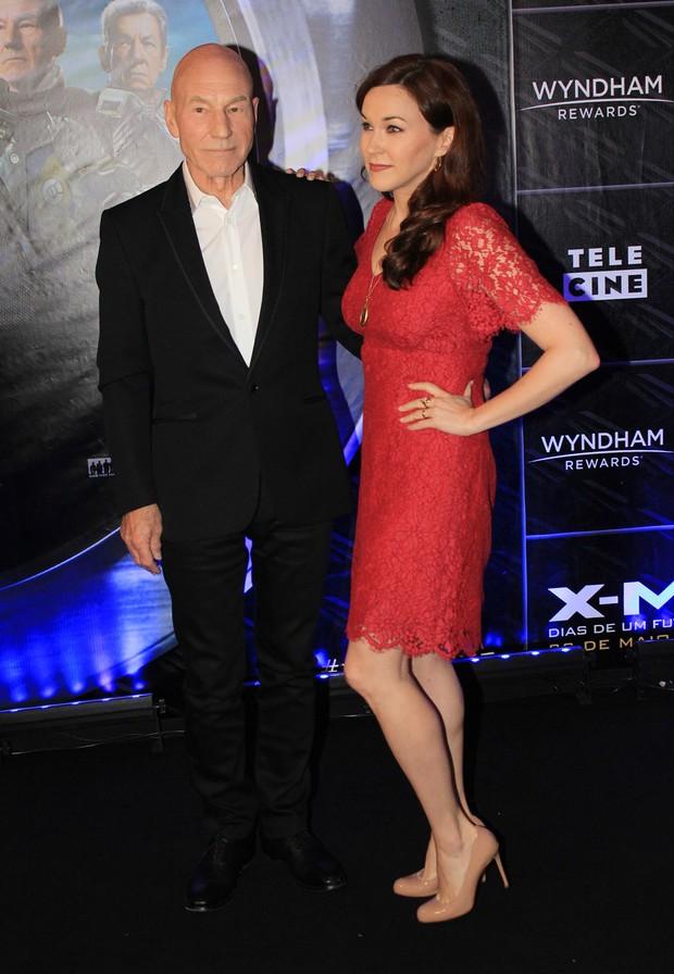 Patrick Stewart na pré-estreia de X-Men em SP (Foto: Celso Tavares / Ego)