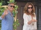 Prestes a casar, George Clooney vai a restaurante com Cindy Crawford