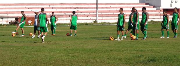 Treino do Sousa no Estádio João Hora, em Sergipe (Foto: Felipe Martins / Globoesporte.com/pb)
